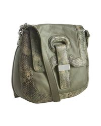 Botkier | Green Sage Snake Leather Charlotte Crossbody Bag | Lyst
