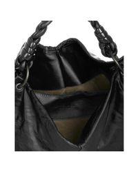 Bottega Veneta - Black Leather Aquilone Triangle Hobo - Lyst