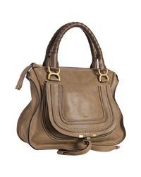 Chloé | Brown Nut Calfskin Marcie Top Handle Bag | Lyst