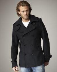 DIESEL | Black Wittor Wool Jacket for Men | Lyst