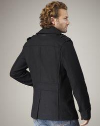 DIESEL - Black Wittor Wool Jacket for Men - Lyst