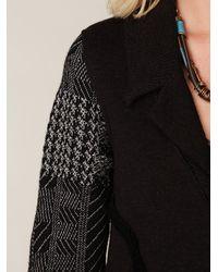Free People - Black Boy Sweater Jacket - Lyst