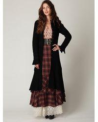 Free People | Black Heritage Wool Coat | Lyst