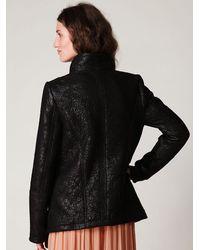 Free People - Black Rugged Vegan Leather Moto Jacket - Lyst