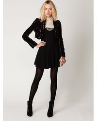 Free People - Black Scallop Strapless Dress - Lyst