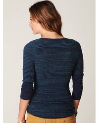 Free People | Blue Lace Up Freckles Pullover | Lyst