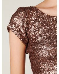 Free People - Brown Sequin Fever Bodycon Dress - Lyst