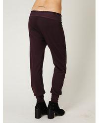 Free People - Purple Ryder Knit Job Pants - Lyst