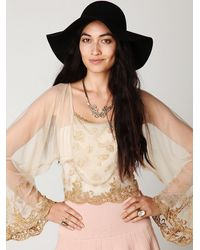 Free People | Metallic Show Pony Lady Top | Lyst