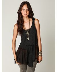 Free People - Gray Caravan Dreams Tunic - Lyst