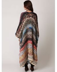Free People | Multicolor Tangier Maxi Poncho | Lyst