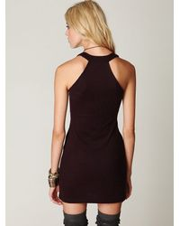 Free People | Brown Web Lace Bodycon Dress | Lyst