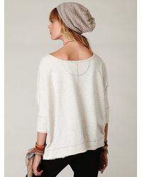 Free People - White Boxy Solid Pullover - Lyst
