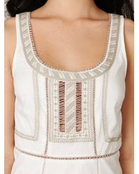 Free People | White Colorblock Shift Dress | Lyst