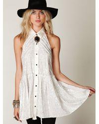 Free People - White Fp New Romantics Tailored Dress - Lyst