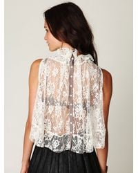 Free People | White Lovely Lace Tie Top | Lyst