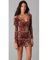 Free People | Purple Burnout Velvet Dress | Lyst