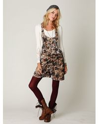 Free People - Multicolor Fp Floral Printed Velvet Overalls - Lyst