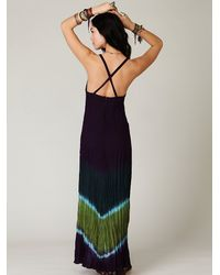 Free People | Blue Tie Dye Maxi Dress | Lyst