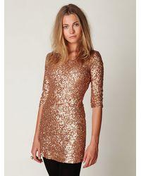 Free People | Metallic Sequin Sway Dress | Lyst