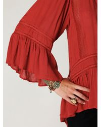 Free People | Brown Victorian Inset Tunic | Lyst