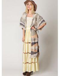 Free People | Metallic Kimono Cardigan | Lyst