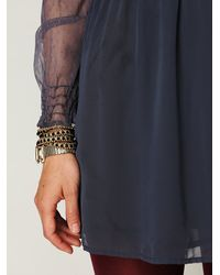 Free People | Blue Vintage Lace Long Sleeve Dress | Lyst