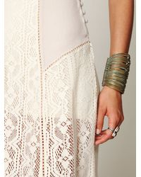 Free People - White Crochet Short Sleeve Maxi Dress - Lyst