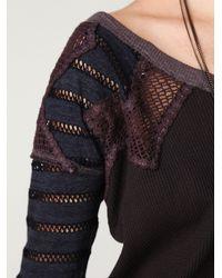 Free People | Black Warrior Chief Crochet Back Top | Lyst