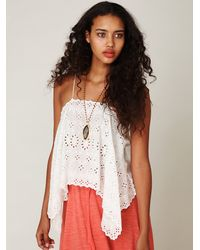 Free People | White Fp New Romantics Tumbling Eyelets Cami | Lyst