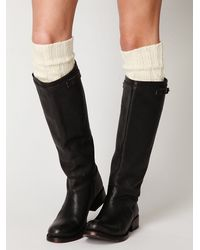 Free People - White Classic Cable Tall Sock - Lyst