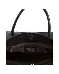 Furla | Brown Ostrich Embossed Leather Greta Large Shopper Tote | Lyst