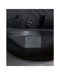 Furla - Black Onyx Crosshatch Leather London Briefcase for Men - Lyst