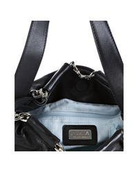 Furla | Black Onyx Leather Arcadia Chain Woven Shoulder Bag | Lyst