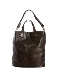 Givenchy - Dark Brown Leather Nightingale Shopper - Lyst