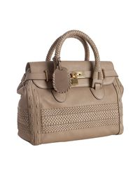 Gucci | Natural Beige Woven Leather Handmade Large Top Handle Bag | Lyst