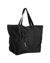 Gucci | Black Gg Nylon Large Tote for Men | Lyst