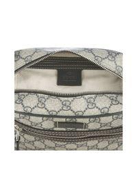 Gucci | Gray Blue Gg Plus Canvas Crossbody Bag | Lyst