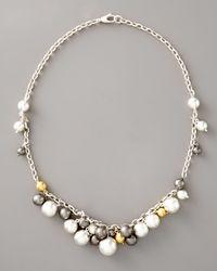 Gurhan - Metallic Caviar Mixed Metal Necklace - Lyst