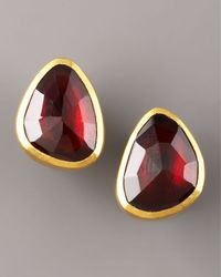 Gurhan - Metallic Garnet Stud Earrings - Lyst