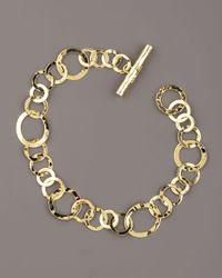 Ippolita | Metallic Hammered Gold Link Bracelet | Lyst