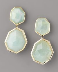 Ippolita - Metallic Milky Quartz & Diamond Drop Earrings - Lyst