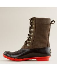 J.Crew | Brown Sperry Top-sider® Tall Shearwater Boots | Lyst