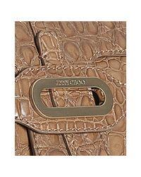 Jimmy Choo - Natural Nude Croc Embossed Leather Tianna Shoulder Bag - Lyst