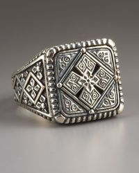 Konstantino | Metallic Maltese Cross Ring for Men | Lyst