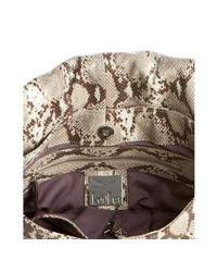 Kooba - Brown Python Embossed Leather Anika Shoulder Bag - Lyst