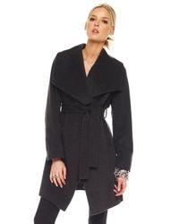 MICHAEL Michael Kors | Gray Wrap Coat | Lyst
