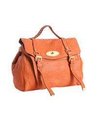 Mulberry | Orange Pumpkin Leather Alexa Oversized Satchel | Lyst