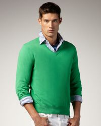 Polo Ralph Lauren | V-neck Sweater, Tiller Green for Men | Lyst