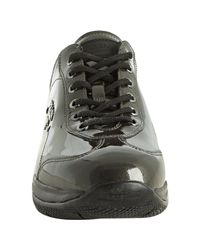 Prada | Gray Sport Anthracite Patent Leather Logo Sneakers | Lyst